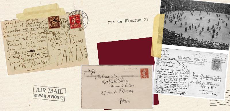 Gertrude Stein - cartoline da Picasso e Hemingway