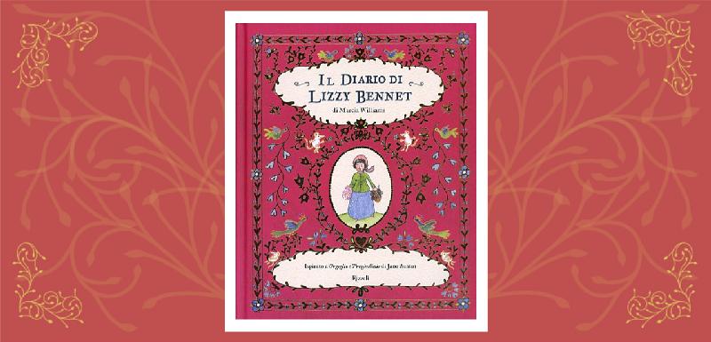 Il diario di Lizzy Bennet - copertina del libro con illustrazione di Marcia Williams